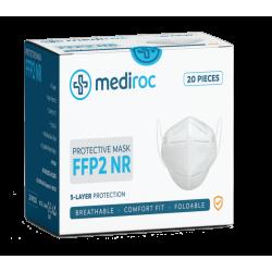 Mediroc Μάσκα KN95 Προσώπου FFP2 NR 5 Layers Κουτί 20 τμχ. (πιστοποιημένο προϊόν) A666