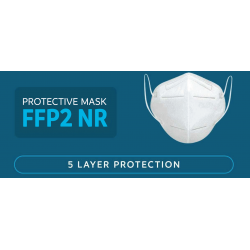 Mediroc Μάσκα KN95 Προσώπου FFP2 NR 5 Layers 1 τμχ. (πιστοποιημένο προϊόν) A666