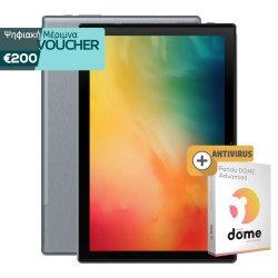 Blackview Tab 8 10.1'' Tablet 4G DS 64GB/4GB RAM Silver Grey EU + Blackview Keyboard - μαγνητική θήκη για το Blackview Tab 8 + Book Cover θήκη + Antivirus (1 Licence - 2 Year)