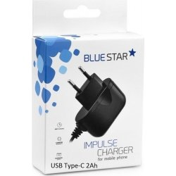 Blue Star USB Type-C Wall Charger Μαύρο (PT_51300) 2A