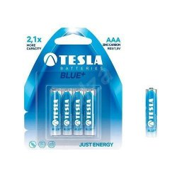 Tesla Batteries AAA Zinc Blue 4pcs 1,5V