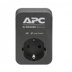 APC Essential SurgeArrest 1 Outlet Black 230V PME1WB-GR