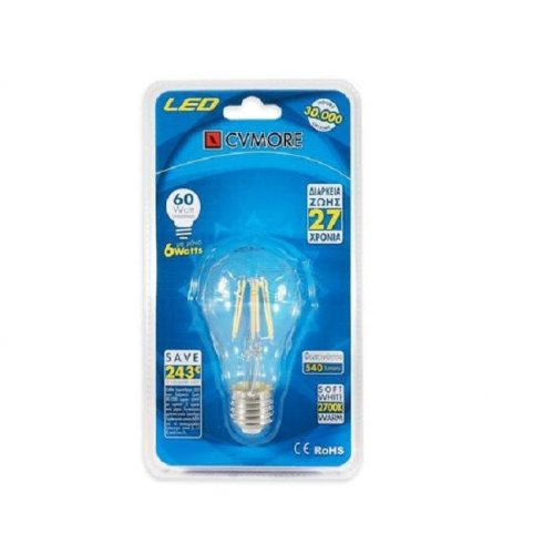 CVMORE E27 GLOBAL FILAMENT 6W LED