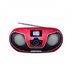 Manta BBX005 NERVA BOOMBOX BT, CD, MP3, USB Red