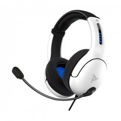 PDP Gaming LVL50 Wired Stereo Headset For PS4,PS5 White