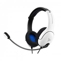 PDP Gaming LVL40 Wired Stereo Headset For PS4,PS5 White