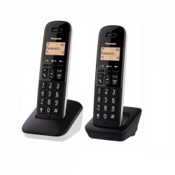 Panasonic  KX-TGB612JTW Διπλό Ασύρματο Ψηφιακό Τηλέφωνο Μαύρο-Λευκό EU