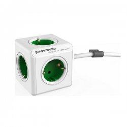 ALLOCACOC PowerCube Original Πολύμπριζο 5 Θέσεων Extended 1.5m Green 1306GN/DEEXPC