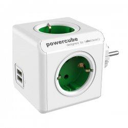 ALLOCACOC PowerCube Original Πολύμπριζο 4 Θέσεων Green 1202GN/DEOUPC