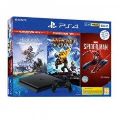 Sony PlayStation 4 500GB & Marvel`s Spider-Man & Horizon Zero Dawn PS Hits & Ratchet & Clank PS Hits