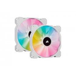 CORSAIR iCUE SP140 RGB ELITE Performance 140mm White PWM  - Fan - Dual Fan Kit with Lighting Node CORE