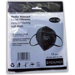 Media Sanex Μάσκα προστασίας CTPL-0020 FFP2 NR 1τμχ Black 5-layer Πιστοποιημένη EN149:2001+A1:2009, CE 2598 - (συσκευασμένες ανά τεμάχιο)