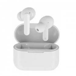 QCY T10 TWS WHITE Dual Driver 4-mic noise cancel True Wireless Earbuds - Quick Charge