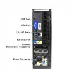 Dell REF Optiplex 390 SFF, I3-2100/4GB/250GB HDD/DVD/FreeDos, Grade A+ Refurbish
